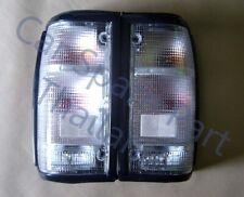 Pair Tail Light Clear Lens BlackFrm for Mazda B2000 B2200 B2600 Truck Pickup Ute
