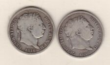 More details for two 1816 & 1817 george iii silver shillings in fine or better condition