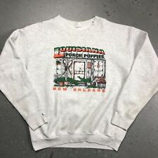 Vintage 90s New Orleans Louisiana Sweatshirt Mens Adult L/XL Distressed Stain C1