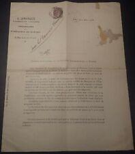 RARE PANAMA CANAL DOCUMENT LEMARQUIS /BARONNE YVERSEN - LUR SALUCES YQUEM 1905