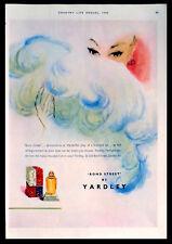 YARDLEY BOND STREET PERFUME 1949 MAGAZINE ADVERT