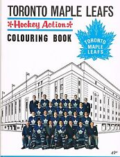 """TORONTO MAPLE LEAFS 1964-65 """"HOCKEY ACTION"""" COLOURING BOOK"""