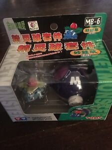 Pokemon BULBASAUR 01 with Purple Pokeball 1998 Pocket Monster Auldey Tomy NEW