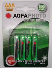 4 x ANGELCARE AC401 AC201 BABY MONITOR AAA COMPATIBLE RECHARGEABLE BATTERIES