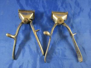 """2 Handhaarschneidemaschine n """"REX"""" & """"Strela"""" Friseur Haarschneider Barbier Hair"""