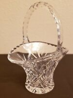 Etched Crystal Handled Basket