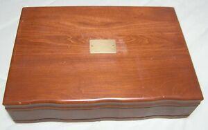 Reed and Barton Tarnish Preventative Silverware Flatware Box Chest Case