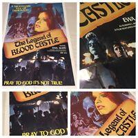 Original 1973 LEGEND OF BLOOD CASTLE CULT HORROR MOVIE THEATRE POSTER 27x41