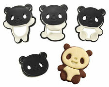 Panda Cookie Cutter 4 pc Set - NEW
