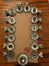 Set Of 15 Antique Tin Christmas Tree Candle Fish Clips