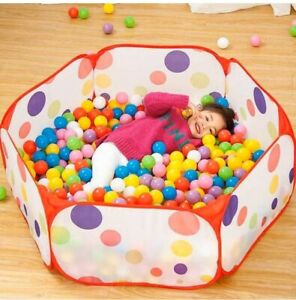 Kids Ocean Ball Pit Pool Game Playing Baby Colorful Tent Outdoor Indoor Foldable
