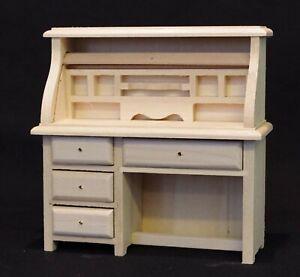 Natural Finish Wooden Writing Bureau Tumdee 1:12 Scale Dolls House Miniature 074