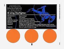 LEGO Star Wars - 10227 B-wing Starfighter UCS - Original Sticker Sheet
