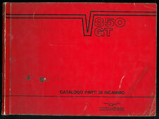 Catalogo Parti di Ricambio MOTO GUZZI V 850 GT + California Catalogue des Pièces