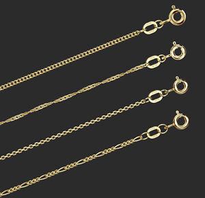 + NEU Goldkette Gelbgold 585, 14 Karat, Halskette Collier Echt, Gold, 4 Modelle