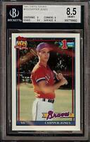 1991 Topps Tiffany #333 Chipper Jones Braves Rookie RC BGS 8.5 NM-MT+ HOF
