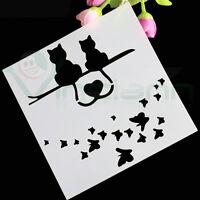 Stencil Cats Love mascherina gatto decorazione torta dolci Cake Design CTS7