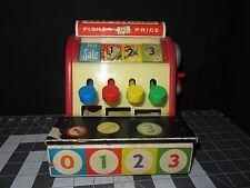 Vintage 1962 FISHER PRICE Wood Cash Register #972 ((#4173))
