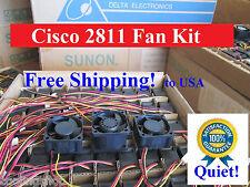 Quiet! Cisco 2811 Router Replacement Fan Kit (3 new fans), ACS-2811-FAN-KIT=