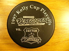 ECHL '97 Kelly Cup Playoff Renegades vs Bombers Hockey Puck Check My Other Pucks