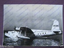 NEW ZEALAND SHORTS S-25 SUNDERLAND FLYING BOAT - ORIGINAL VINTAGE PHOTO ±1949
