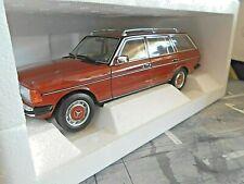 MERCEDES BENZ E-Klasse W123 S123 200 200E T-Modell Kombi rot 1982 NEU Norev 1:18