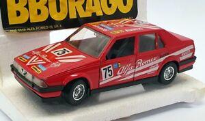 Burago 1/24 Scale Model Car 0119 - Alfa Romeo 75 GR.A - #75 Red