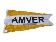 AMVER - Vintage NAVAL Flag- Marine / Nautical / Boat - SHIP'S 100% ORIGINAL(373)