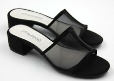 Jeffrey Campbell Beaton Womens Suede Slide Low Heel Sandals Black Size 6 New