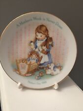 """Avon Mothers Day1988 A Mothers Work is Never Done 5"""" Porcelain Collectors Plate"""
