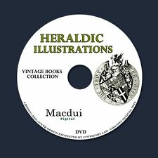 Heraldic illustrations with annotations 3 Vol-1853 Old Ebooks 3 PDF on 1 DVD