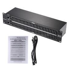 Professional EQ-231 Dual Channel 31-Band Equalizer 2U Rack E6D3