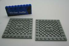 Lego ® 2x Gitter Platte - Schutz - Ritter - 8x8 - hellgrau - 4151- Ritterburg