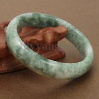 Beautiful Chinese Genuine Natural Green Jade Gems Bangle Bracelet 59mm