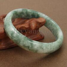 Chinese Beautiful Genuine Natural Green Jade Gems Bangle Bracelet 59mm