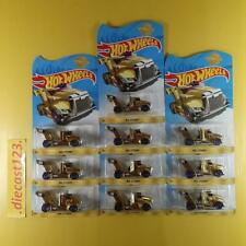 (Lot of 10) Hot Wheels RIG STORM GOLD 24K - 2019 MEIJER's Exclusive Gold Edition
