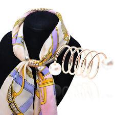 Boucle pince Clip Écharpe foulard perles nouveau branché femmes spirales joli