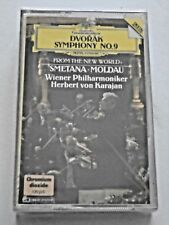 "DVORAK Symphony No. 9 ""From The New World""/SMETANA Karajan NEW SEALED Cassette"