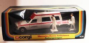 """Corgi Mercedes Bonna ambulance """"BOXED"""""""
