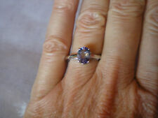 AA Tanzanite solitaire ring, size N/O, 1.16 carats, in 1.9 grams 9k white gold