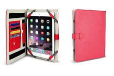 """Red Universal Tablet Stand Case For All 9-11"""" Devices With Organiser"""