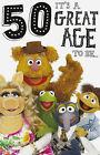 The Muppets Carte D'anniversaire 18 30 40 50 60 Fozzy Waldof Kermit Miss Piggy