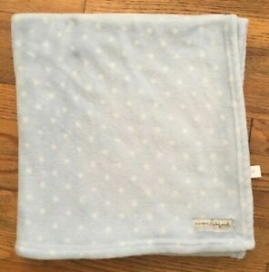 Blankets And Beyond Blue White Polkadot Baby Blanket