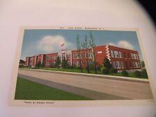 VINTAGE POSTCARD LINEN MORGANTON NC HIGH SCHOOL