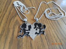 "ICP Juggalo/ lette  ""im hers /shes mine"" BLACK pendant with 30"" ball chains"