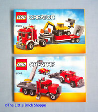 Lego Creator 31005 Construction Hauler - INSTRUCTION BOOK 1 & 2 ONLY - No Lego