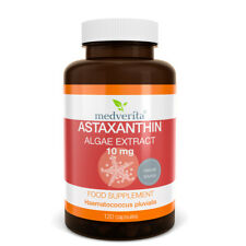 Natural ASTAXANTHIN Algae Extract- 10mg STRONG Antioxidant- NO Fillers- 120 caps