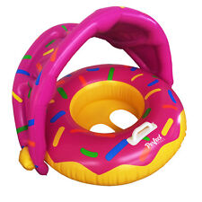 """Official """"Perfect Pools"""" Inflatable Baby Doughnut Swim Seat, Pool Donut Float"""