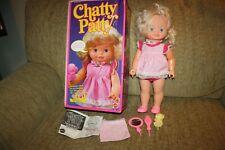 "Vintage 1983 Mattel Chatty Patty Talking Doll in Box 16.5"". Works!"