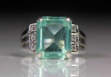 Aquamarine White Fine Diamond Rings